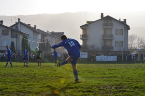 Team Korab of Dibra defeated Vllaznimi, Struga, 1-0 on Saturday at FC Vllaznimi Stadium in Plitishta. Photo by Angelina Tala, Struga News